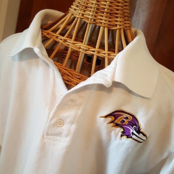 ba143cc7 emerils.com Shirts | Emerilscom Mens White Baltimore Ravens Polo Sz ...